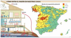 Mapa radón en España